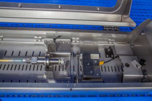 HSP pressure test bench with length measurement and burst box